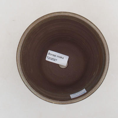 Ceramic bonsai bowl 12.5 x 12.5 x 11 cm, brown color - 3