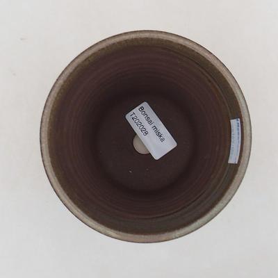Ceramic bonsai bowl 10 x 10 x 13 cm, color brown - 3