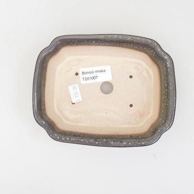 Ceramic bonsai bowl 15.5 x 12 x 4.5 cm, color green - 3