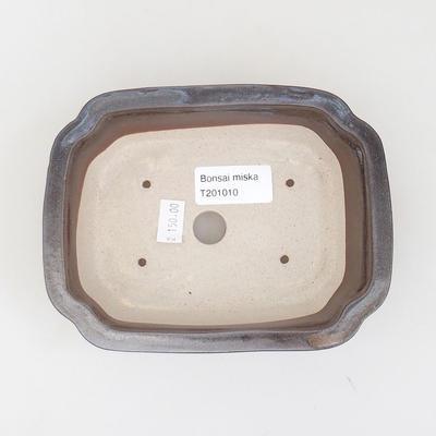 Ceramic bonsai bowl 15.5 x 12 x 4.5 cm, brown color - 3