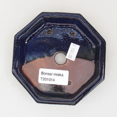 Ceramic bonsai bowl 11 x 11 x 2 cm, color blue - 3