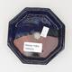 Ceramic bonsai bowl 11 x 11 x 2 cm, color blue - 3/4