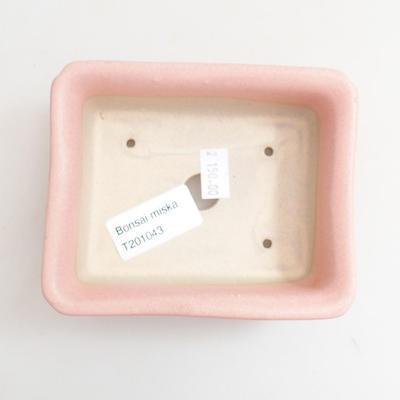 Ceramic bonsai bowl 12 x 10 x 4.5 cm, color pink - 3