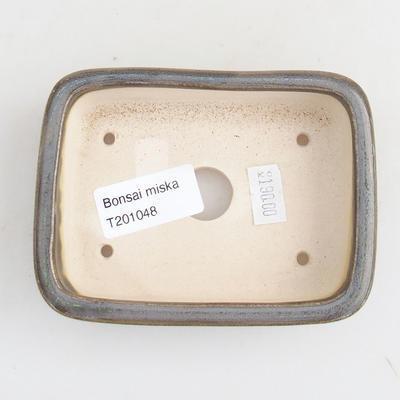 Ceramic bonsai bowl 11 x 8 x 3 cm, color green - 3