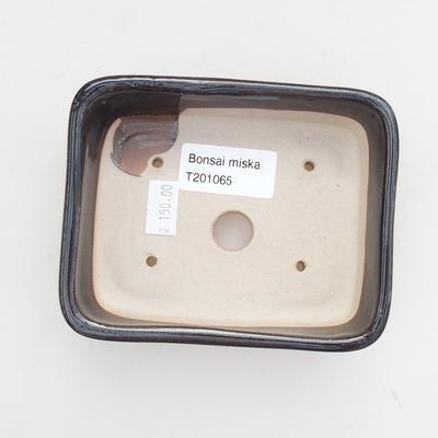 Ceramic bonsai bowl 12 x 9 x 3.5 cm, color green - 3