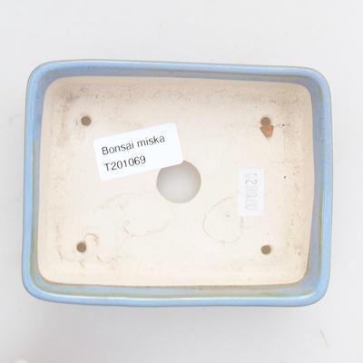 Ceramic bonsai bowl 12.5 x 10 x 3.5 cm, color blue - 3
