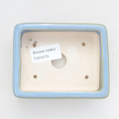 Ceramic bonsai bowl 10.5 x 8.5 x 3 cm, color blue - 3