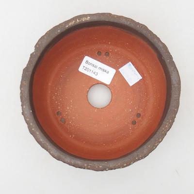 Ceramic bonsai bowl 15 x 15 x 6 cm, color cracked - 3