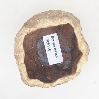 Ceramic shell 7 x 6.5 x 5 cm, yellow color - 3