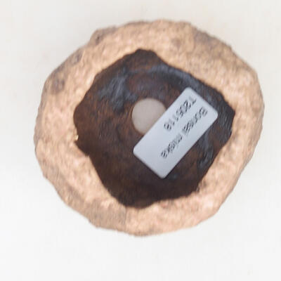 Ceramic shell 6 x 6 x 6 cm, brown-pink color - 3