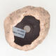 Ceramic Shell 6 x 5 x 6 cm, brown-pink color - 3/3