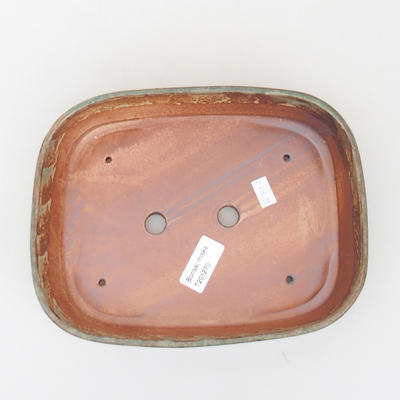 Ceramic bonsai bowl 23 x 18 x 5 cm, color brown-green - 3