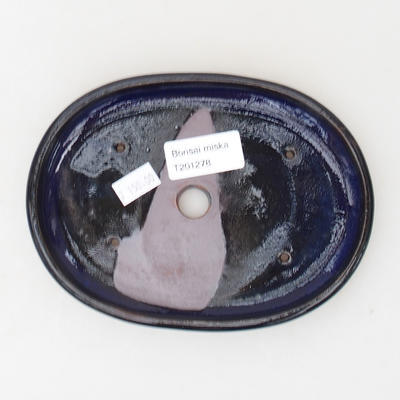Ceramic bonsai bowl 16 x 12 x 2 cm, color blue - 3