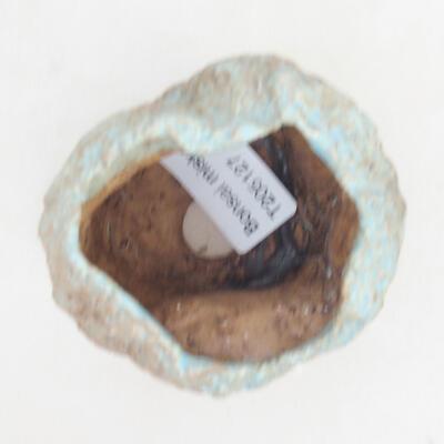 Ceramic shell 5 x 5 x 6 cm, brown-blue color - 3