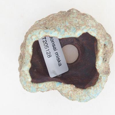 Ceramic shell 5 x 4 x 5.5 cm, brown-blue color - 3