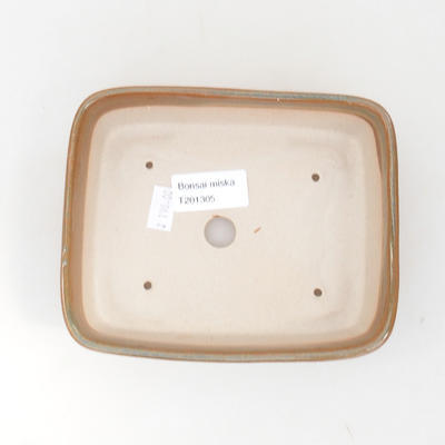 Ceramic bonsai bowl 15 x 12 x 4.5 cm, brown color - 3