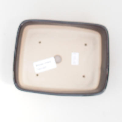 Ceramic bonsai bowl 15 x 12 x 4.5 cm, color brown-green - 3