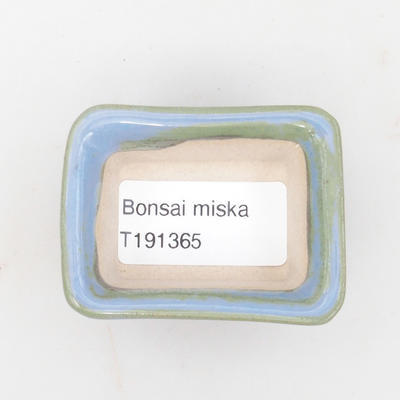 Mini bonsai bowl 6 x 4,5 x 2,5 cm, color blue - 3