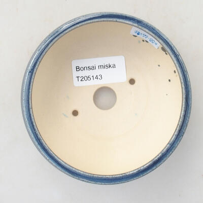 Ceramic bonsai bowl 10 x 10 x 5 cm, color blue - 3
