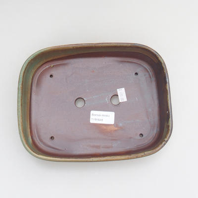 Ceramic bonsai bowl 23 x 17,5 x 5 cm, color green - 3