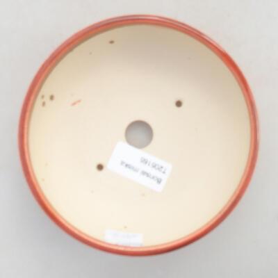 Ceramic bonsai bowl 13 x 13 x 4.5 cm, brick color - 3