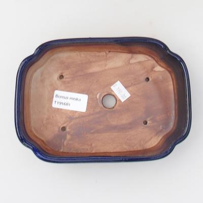 Ceramic bonsai bowl 18 x 12,5 x 5 cm, color blue - 3