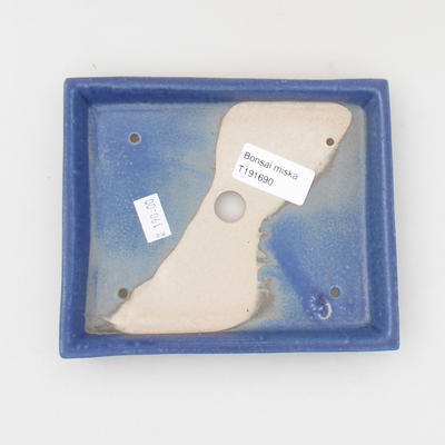 Ceramic bonsai bowl 15,5 x 13 x 2 cm, color blue - 3