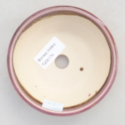 Ceramic bonsai bowl 11.5 x 11.5 x 4 cm, color purple - 3