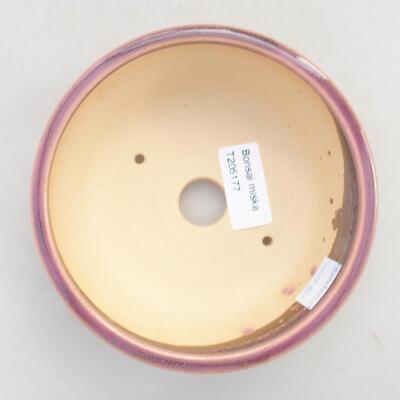 Ceramic bonsai bowl 13.5 x 13.5 x 5 cm, color purple - 3