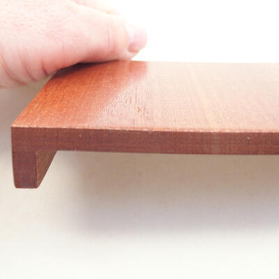Wooden table under the bonsai brown 10 x 8 x 1.5 cm - 3