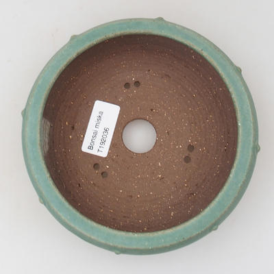 Ceramic bonsai bowl - 14,5 x 14,5 x 4,5 cm, color green - 3
