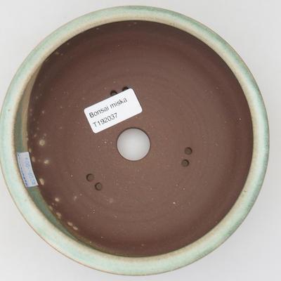 Ceramic bonsai bowl - 16 x 16 x 6 cm, color green - 3