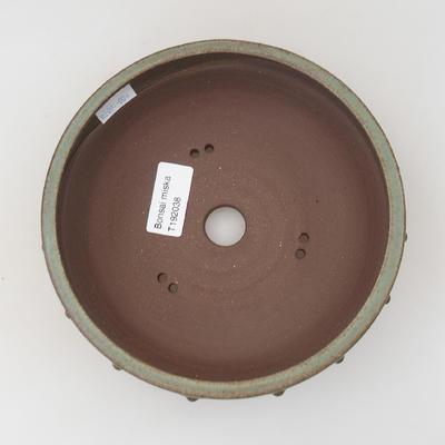 Ceramic bonsai bowl - 16,5 x 16,5 x 5,5 cm, color green - 3