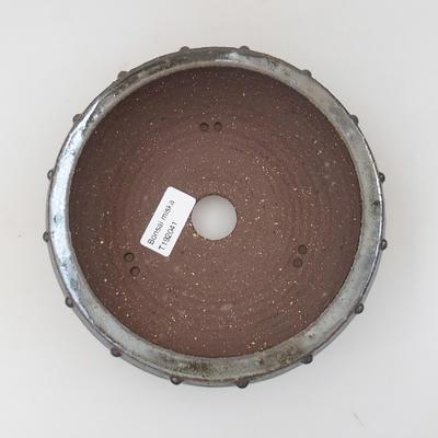 Ceramic bonsai bowl - 17 x 17 x 5,5 cm, color green - 3