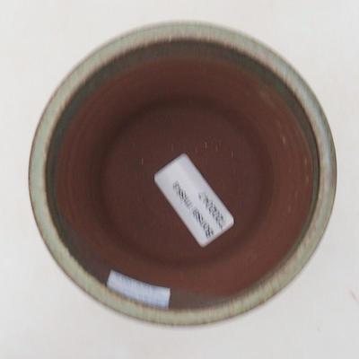 Ceramic bonsai bowl 10 x 10 x 9.5 cm, color brown-green - 3