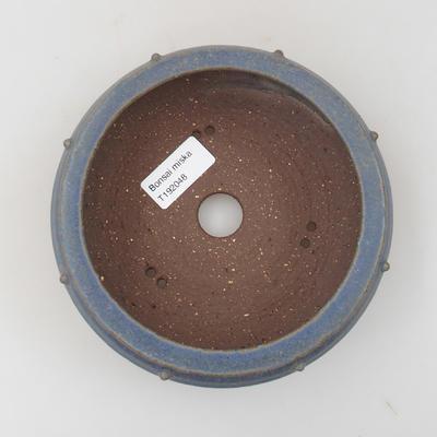 Ceramic bonsai bowl - 15 x 15 x 5 cm, color blue - 3