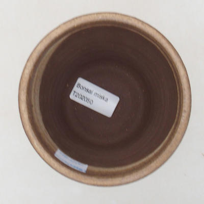 Ceramic bonsai bowl 10.5 x 10.5 x 9.5 cm, brown color - 3
