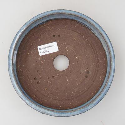 Ceramic bonsai bowl - 18,5 x 18,5 x 5 cm, color blue - 3