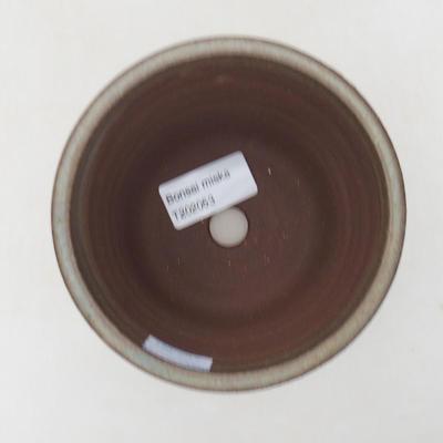 Ceramic bonsai bowl 11 x 11 x 9 cm, color brown - 3