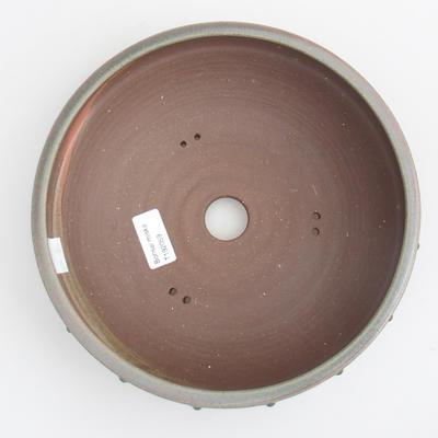 Ceramic bonsai bowl - 24 x 24 x 7 cm, color green - 3
