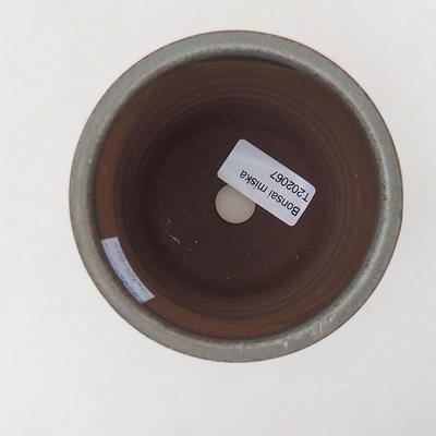 Ceramic bonsai bowl 9 x 9 x 10.5 cm, gray color - 3