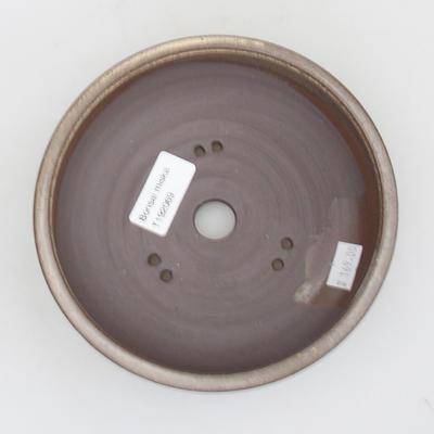 Ceramic bonsai bowl - 15,5 x 15,5 x 5 cm, brown color - 3