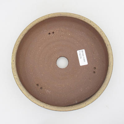 Ceramic bonsai bowl - 22 x 22 x 6 cm, brown-yellow color - 3