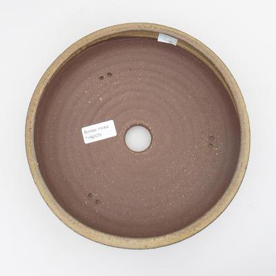 Ceramic bonsai bowl - 23 x 23 x 6 cm, brown-yellow color - 3