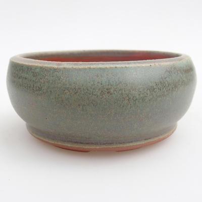 Ceramic bonsai bowl 10 x 10 x 5 cm, color green - 3
