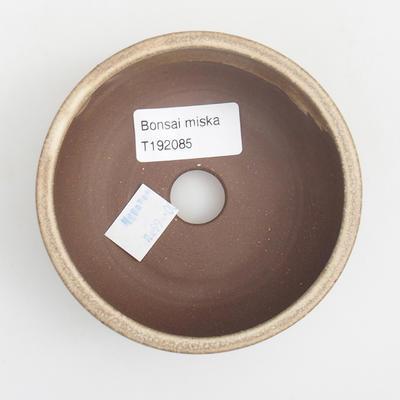 Ceramic bonsai bowl 10 x 10 x 4,5 cm, color beige - 3