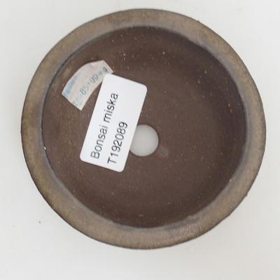 Ceramic bonsai bowl 8 x 8 x 3,5 cm, color green - 3
