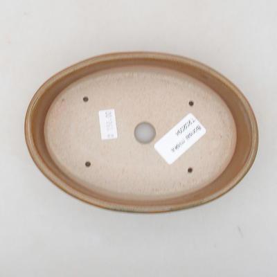 Ceramic bonsai bowl 16 x 11.5 x 4 cm, brown color - 3
