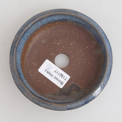 Ceramic bonsai bowl 11,5 x 11,5 x 3 cm, color blue - 3