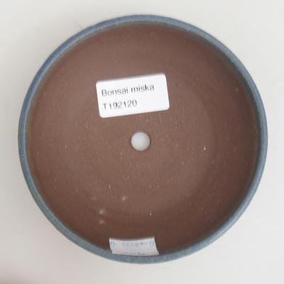 Ceramic bonsai bowl 12 x 12 x 3 cm, color blue - 3